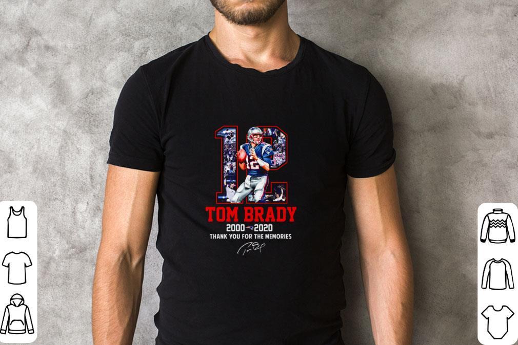 Premium 12 Tom Brady Patriots 2000 2020 thank you for the memories shirt 2 1 - Premium 12 Tom Brady Patriots 2000-2020 thank you for the memories shirt