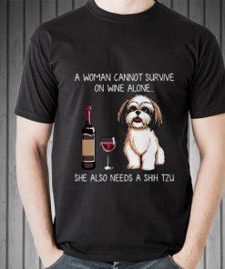 Premium A Woman Cannot Survive On Wine Alone She Also Needs A Shih Tzu shirt 2 1 247x296 - Premium A Woman Cannot Survive On Wine Alone She Also Needs A Shih Tzu shirt