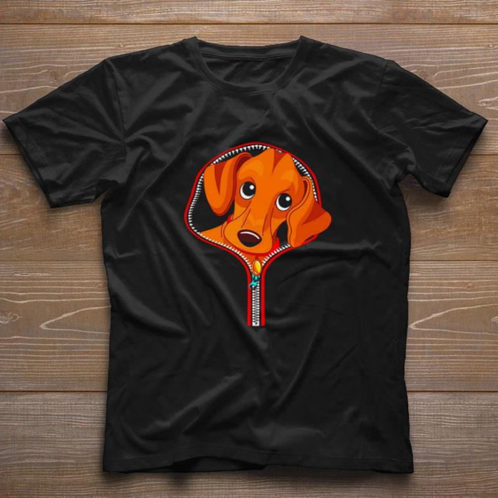 Premium Dachshund in zip tees shirt 1 1 - Premium Dachshund in zip tees shirt