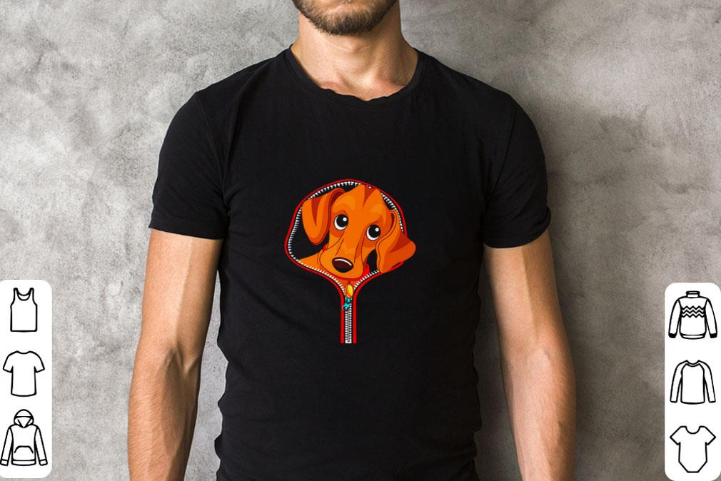 Premium Dachshund in zip tees shirt 2 1 - Premium Dachshund in zip tees shirt