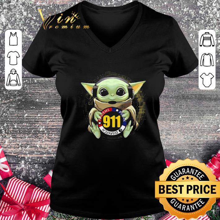 Pretty Baby Yoda Dispatch Fire Ems Police 911 shirt 2 1 - Pretty Baby Yoda Dispatch Fire Ems Police 911 shirt