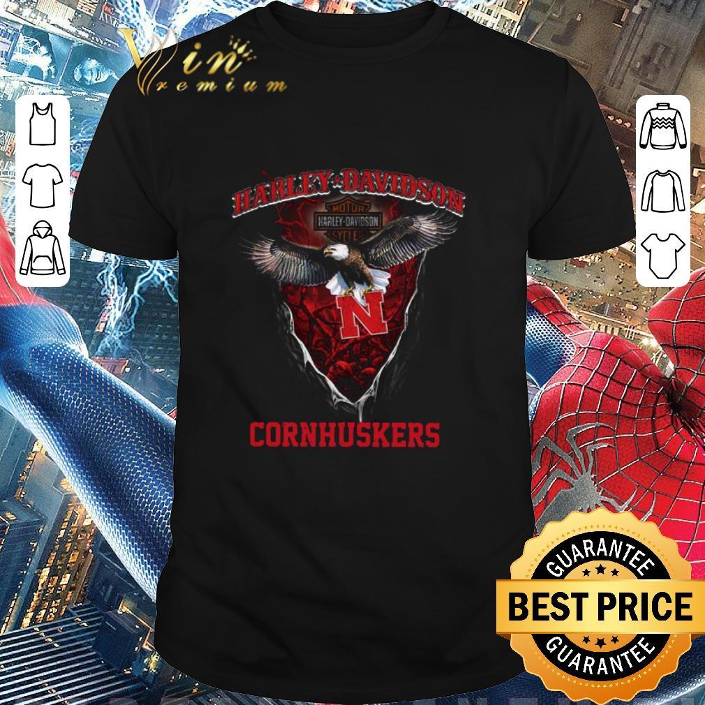 Pretty Eagle Harley Davidson Nebraska Cornhuskers shirt 1 1 - Pretty Eagle Harley Davidson Nebraska Cornhuskers shirt