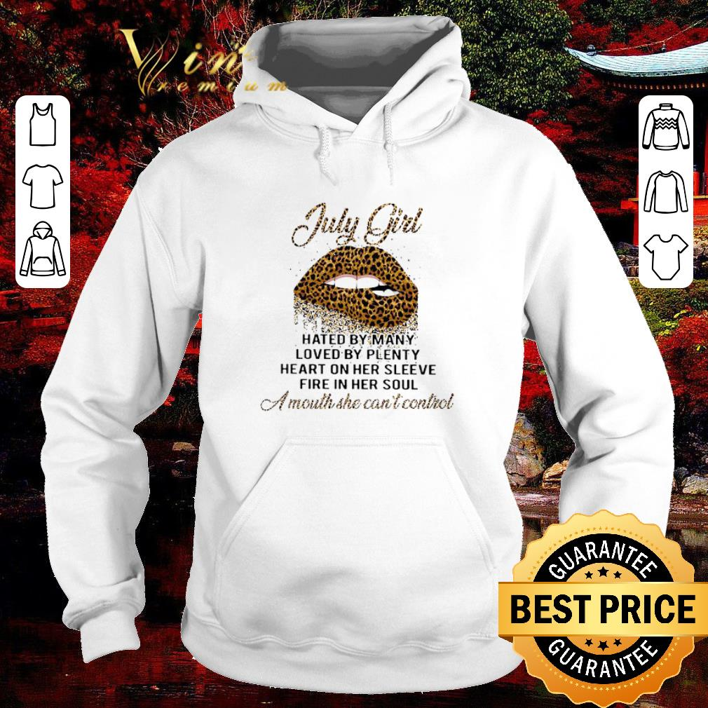 Pretty Lips Leopard July Girl Hated By Many Loved By Plenty Loved By Plenty shirt