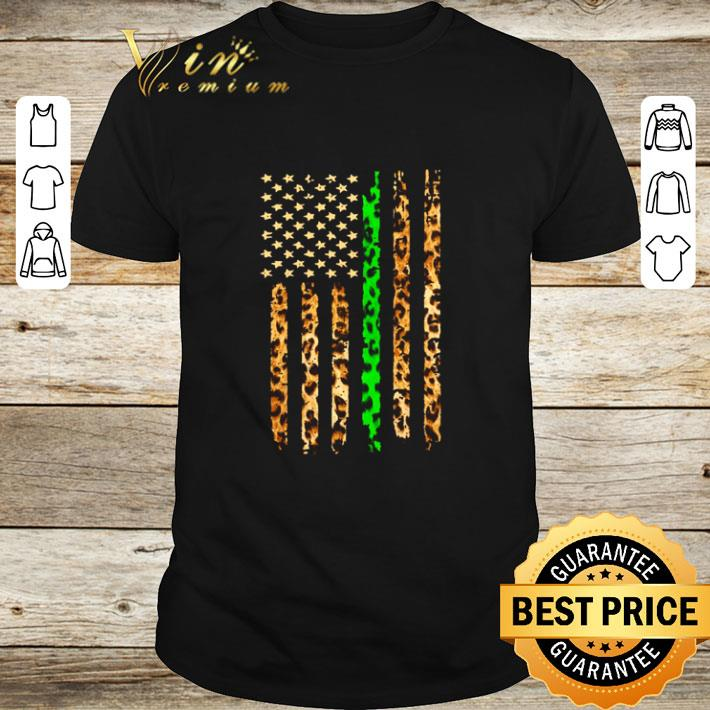 Pretty Thin Green Line Leopard American Flag shirt 1 1 - Pretty Thin Green Line Leopard American Flag shirt