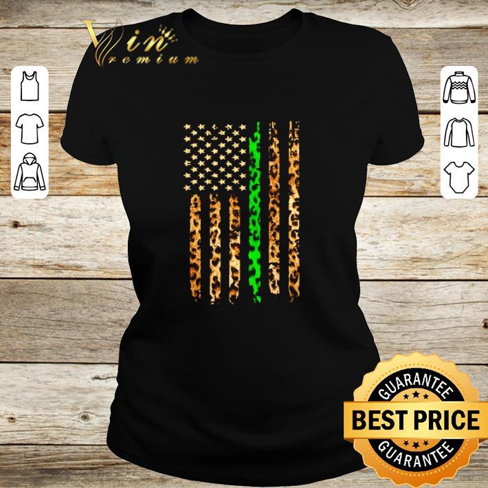 Pretty Thin Green Line Leopard American Flag shirt 2 1 - Pretty Thin Green Line Leopard American Flag shirt
