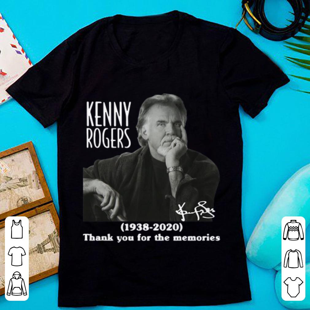 Top Kenny Rogers Thank You For The Memories Signature shirt 1 1 - Top Kenny Rogers Thank You For The Memories Signature shirt