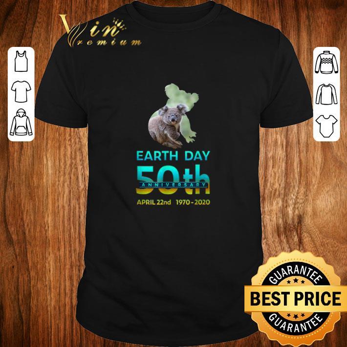 Top Koala Silhouette earth day 50th anniversary april 22nd 1970 2020 shirt 1 1 - Top Koala Silhouette earth day 50th anniversary april 22nd 1970-2020 shirt