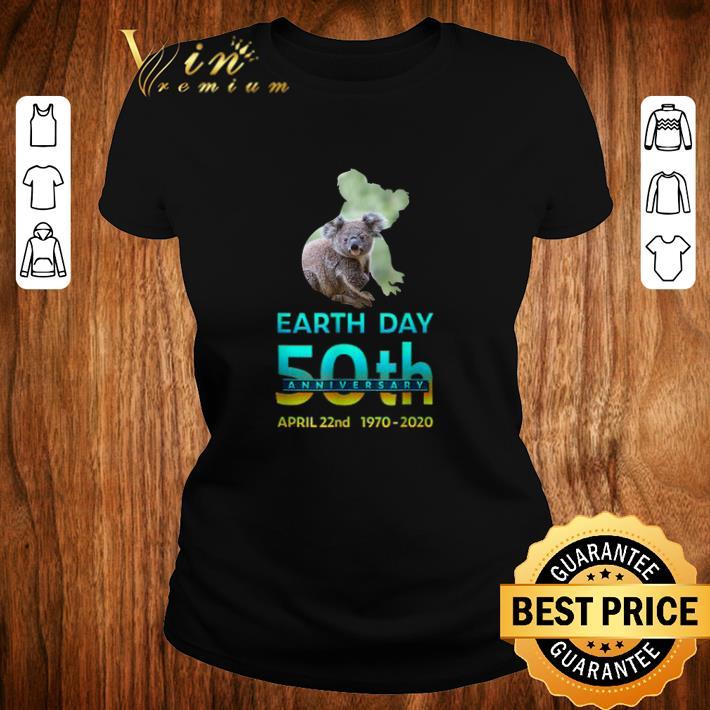 Top Koala Silhouette earth day 50th anniversary april 22nd 1970 2020 shirt 2 1 - Top Koala Silhouette earth day 50th anniversary april 22nd 1970-2020 shirt