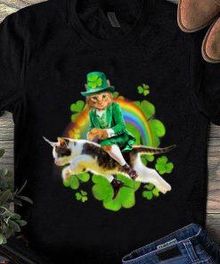 Top Leprechaun Cat Riding In Rainbow St Patty shirt 1 1 247x296 - Top Leprechaun Cat Riding In Rainbow St Patty shirt