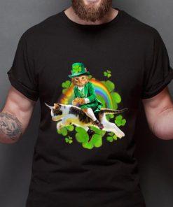 Top Leprechaun Cat Riding In Rainbow St Patty shirt 2 1 247x296 - Top Leprechaun Cat Riding In Rainbow St Patty shirt