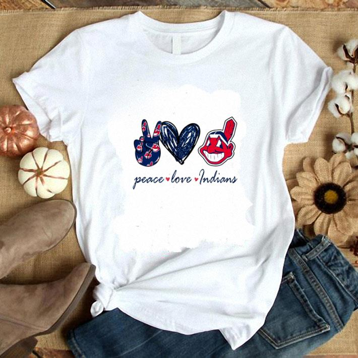 Top Peace love Cleveland Indians logo shirt 1 1 - Top Peace love Cleveland Indians logo shirt