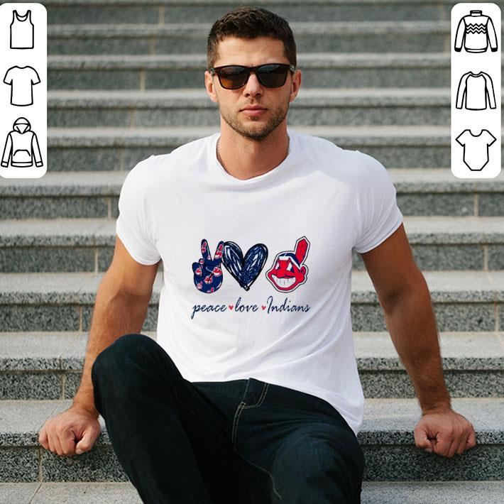 Top Peace love Cleveland Indians logo shirt 2 1 - Top Peace love Cleveland Indians logo shirt