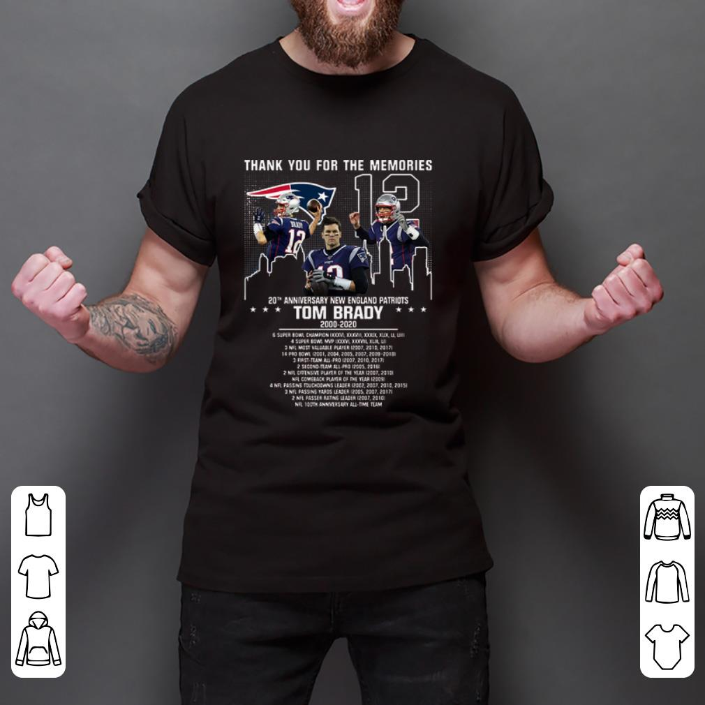 Top Tom Brady Thank You For The Memories New England Patriots shirt 2 1 - Top Tom Brady Thank You For The Memories New England Patriots shirt