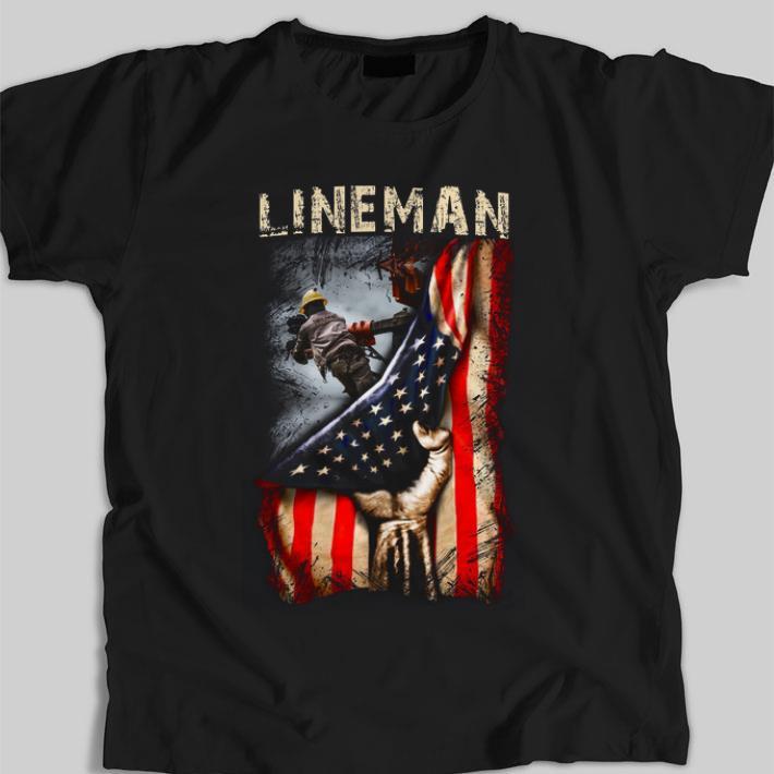 Original Lineman American Flag shirt 2 1 - Original Lineman American Flag shirt