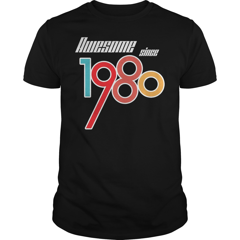 37th Birthday Gift Vintage Made In 1980 Awesome Shirt