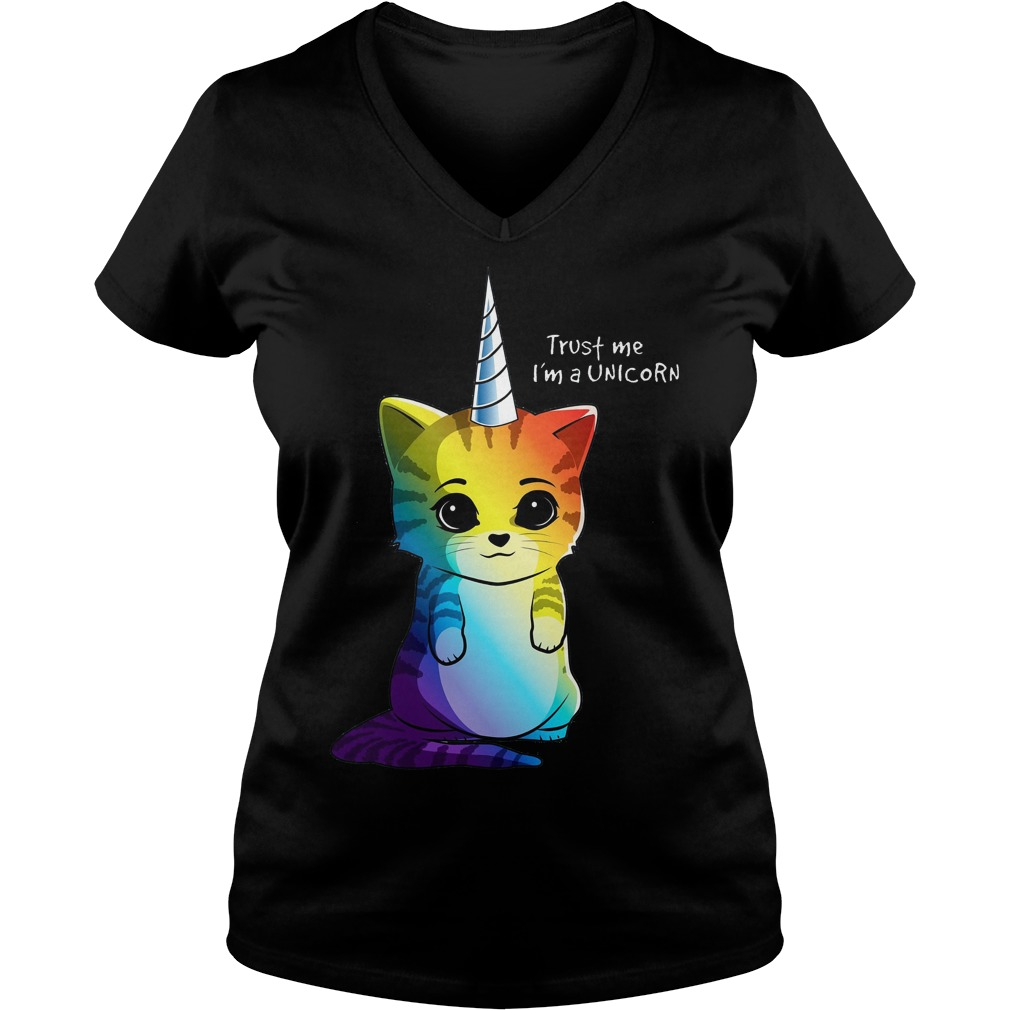 Caticorn Rainbow Meowgical Cat Unicorn Kittycorn V neck - Caticorn Rainbow Meowgical Cat Unicorn Kittycorn Shirt