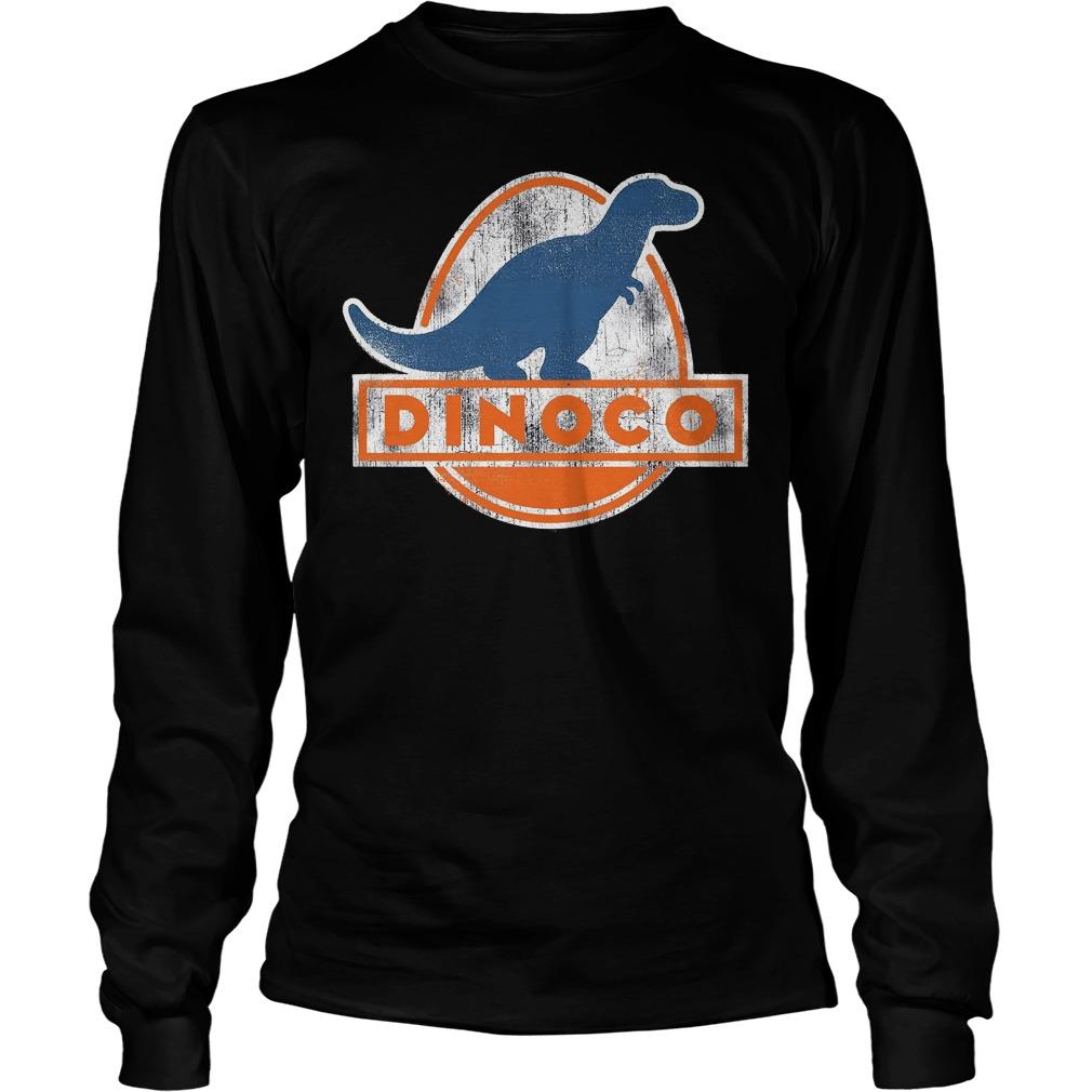 Disney Pixar Cars Iconic DINOCO Dinosaur Longsleeve - Disney Pixar Cars Iconic Dinoco Dinosaur Shirt