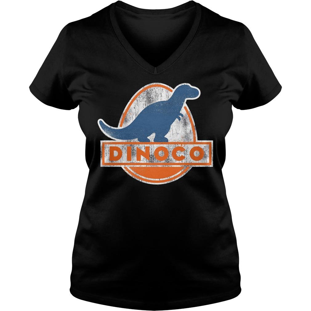 Disney Pixar Cars Iconic Dinoco Dinosaur V Neck