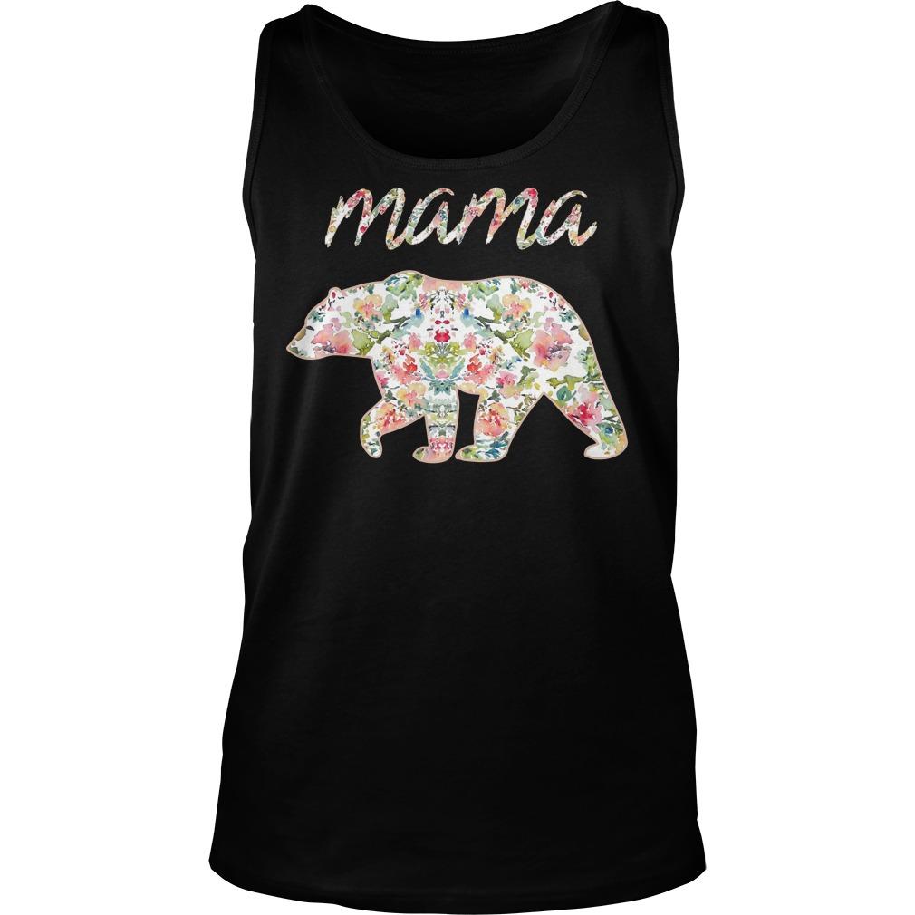 Mama Bear Floral Tanktop - Mama Bear Floral Shirt
