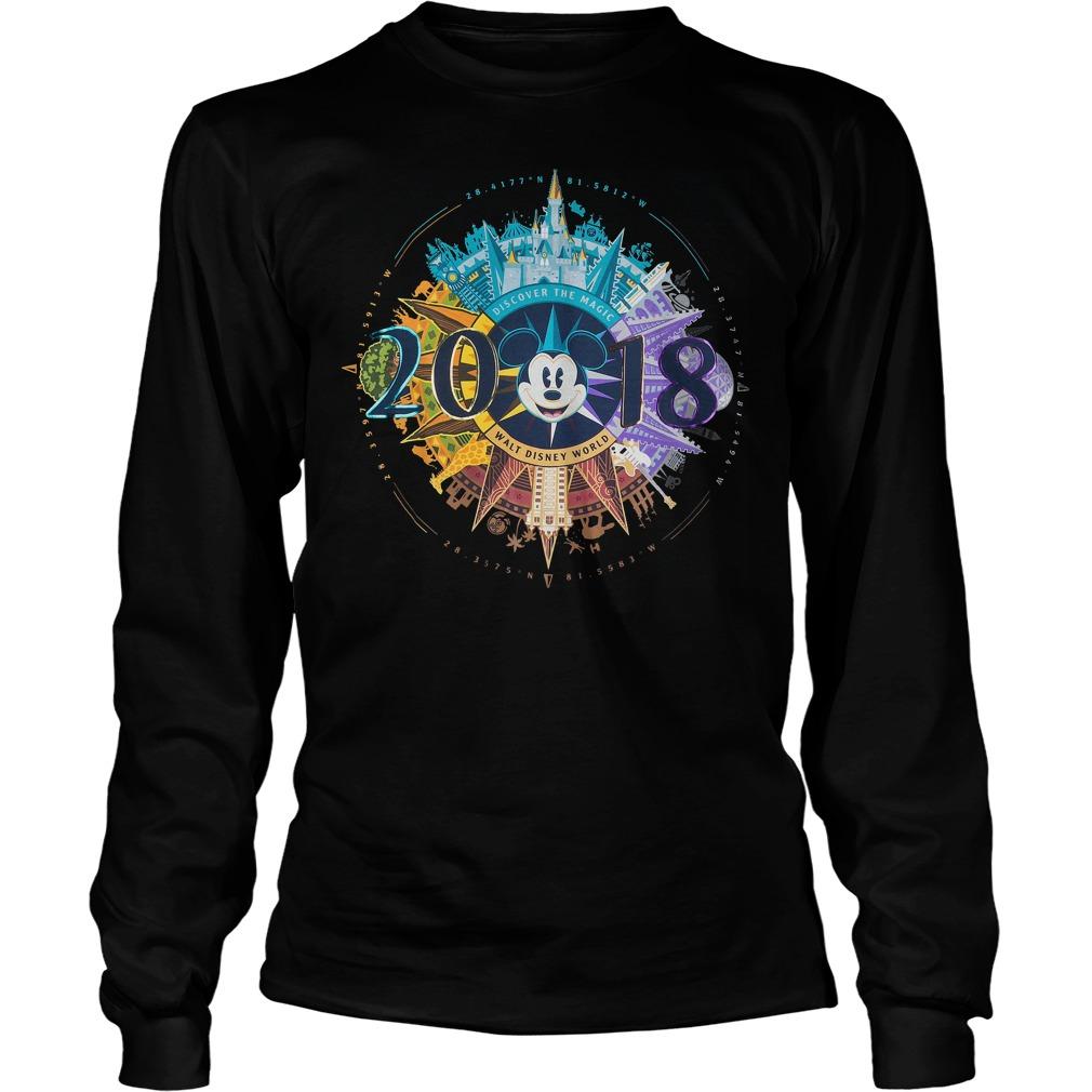Mickey Mouse Compass Walt Disney World 2018 Longsleeve - Mickey Mouse Compass Walt Disney World 2018 Shirt