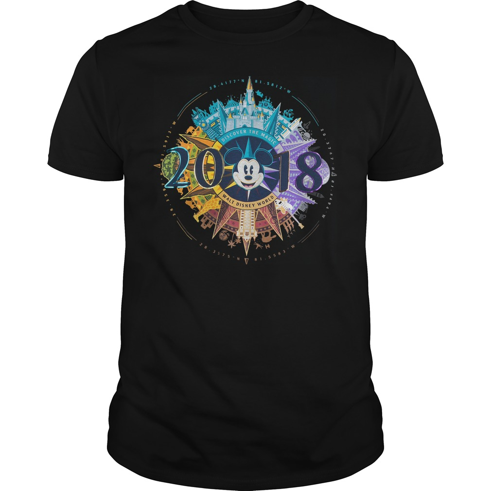 Mickey Mouse Compass Walt Disney World 2018 Shirt