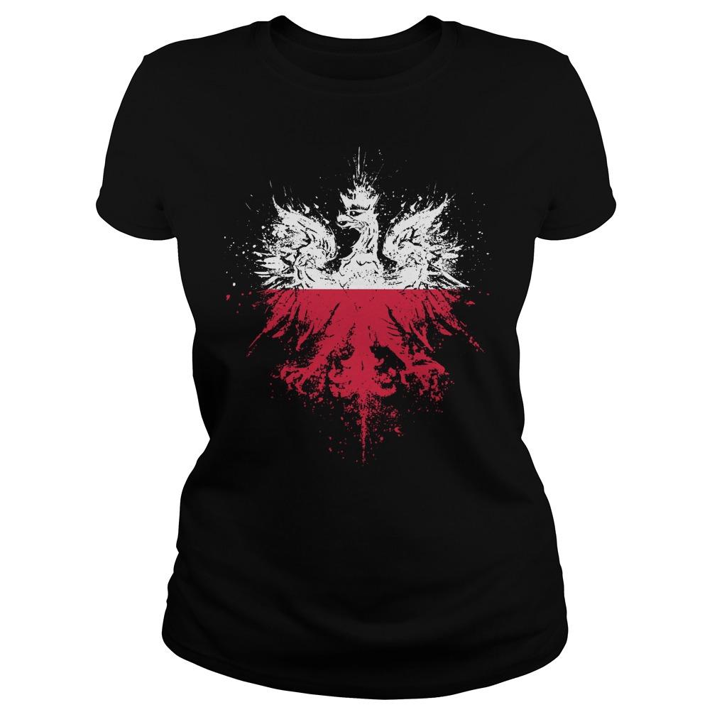 Polish Eagle Pride Flag Ladies - Polish Eagle Pride Flag Shirt