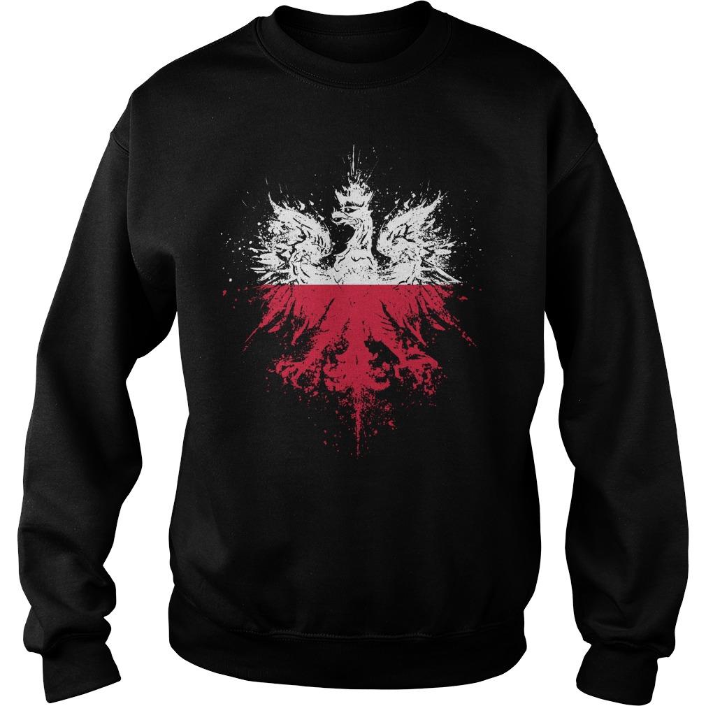 Polish Eagle Pride Flag Sweater - Polish Eagle Pride Flag Shirt