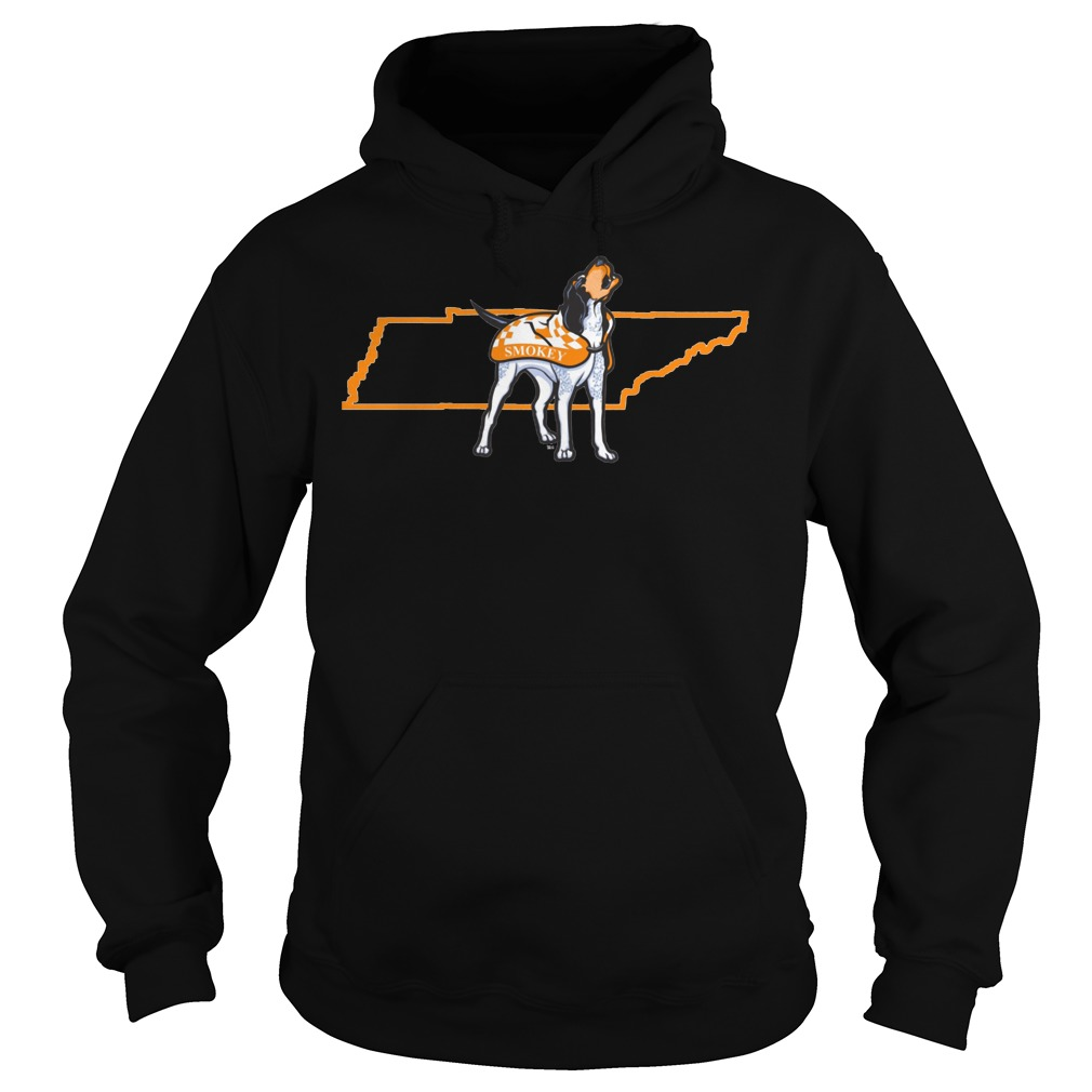 Tennessee Volunteers Smokey In State Outline Hoodie - Tennessee Volunteers Smokey In State Outline Shirt
