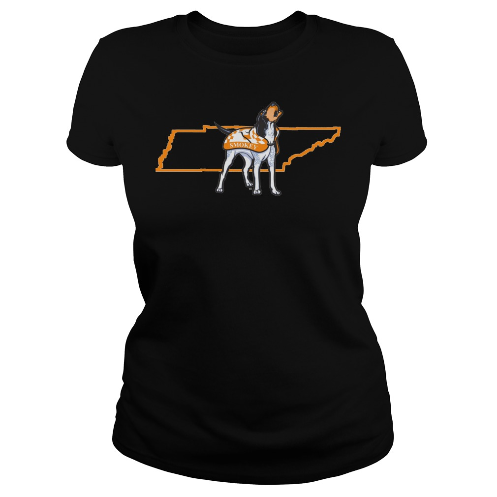 Tennessee Volunteers Smokey In State Outline Ladies - Tennessee Volunteers Smokey In State Outline Shirt