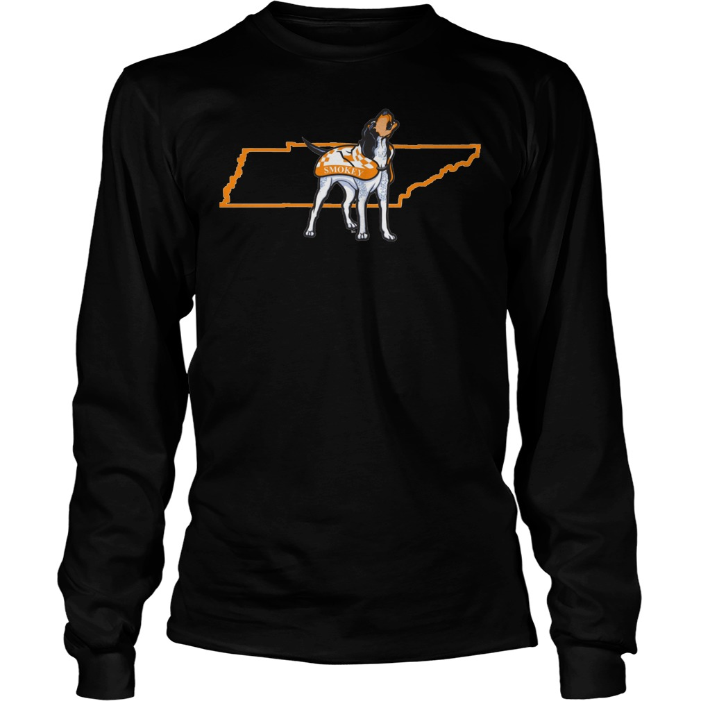 Tennessee Volunteers Smokey In State Outline Longsleeve - Tennessee Volunteers Smokey In State Outline Shirt