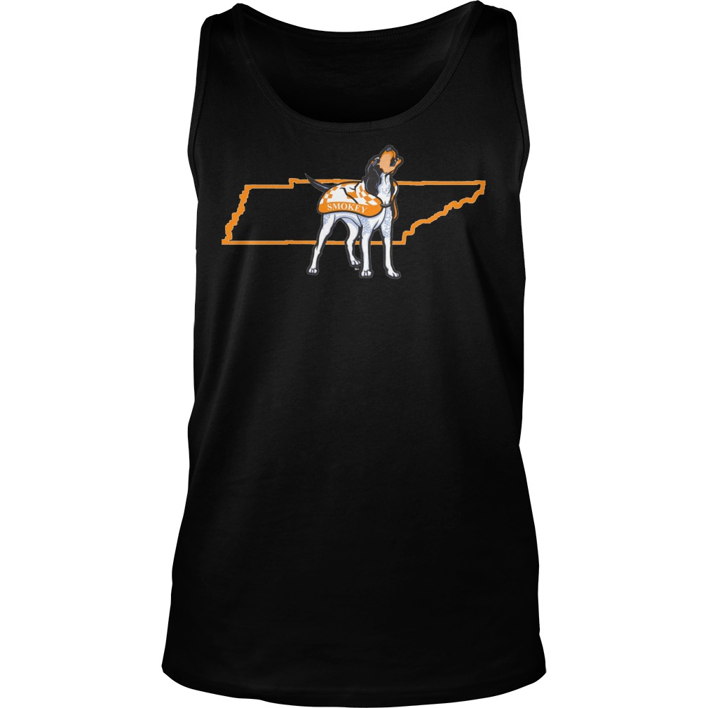 Tennessee Volunteers Smokey In State Outline Tanktop - Tennessee Volunteers Smokey In State Outline Shirt