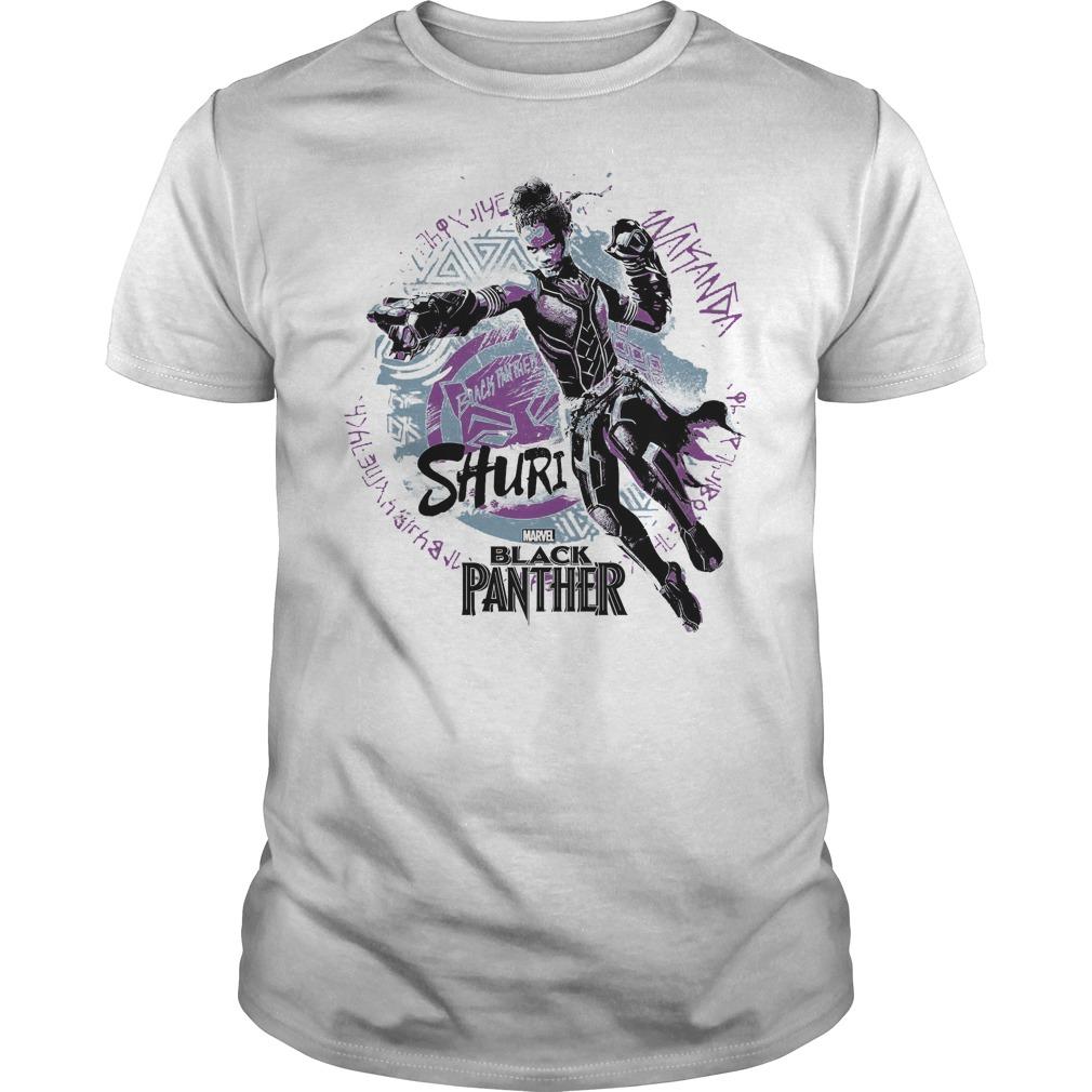 Marvel Black Panther Movie Shuri Graffiti Graphic Shirt Guy Tee