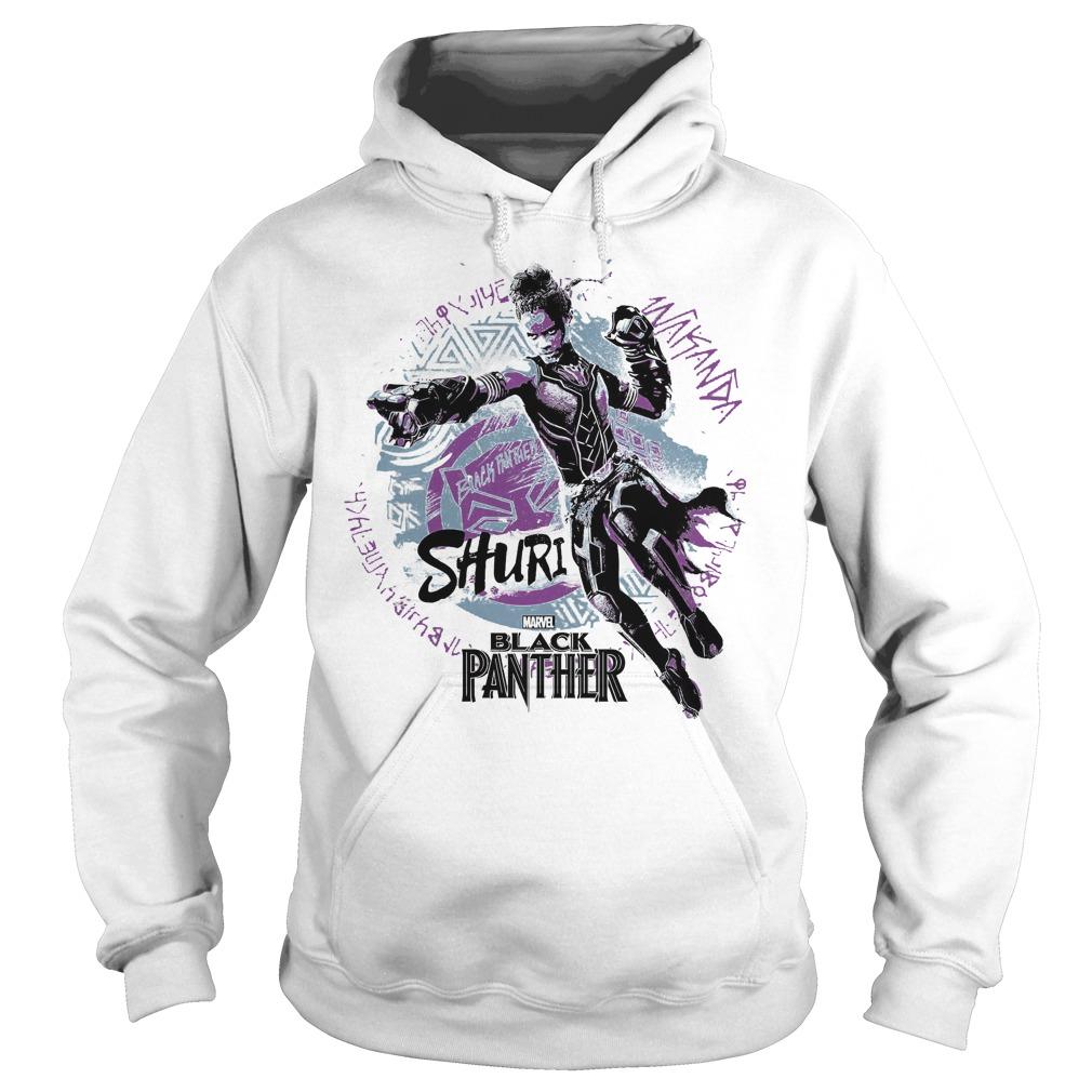 marvel black panther movie shuri graffiti graphic shirt hoodies - Marvel Black Panther Movie Shuri Graffiti Graphic Shirt