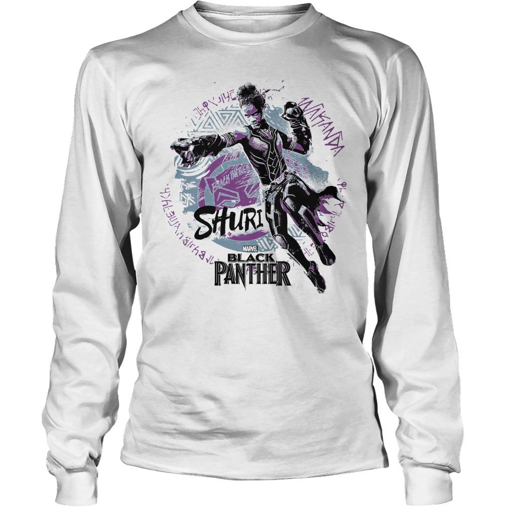 marvel black panther movie shuri graffiti graphic shirt longsleeve - Marvel Black Panther Movie Shuri Graffiti Graphic Shirt