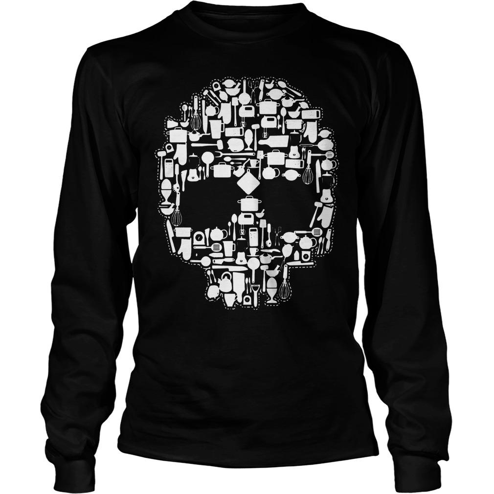 Chef Sugar Skull Longsleeve - Chef Sugar Skull Shirt