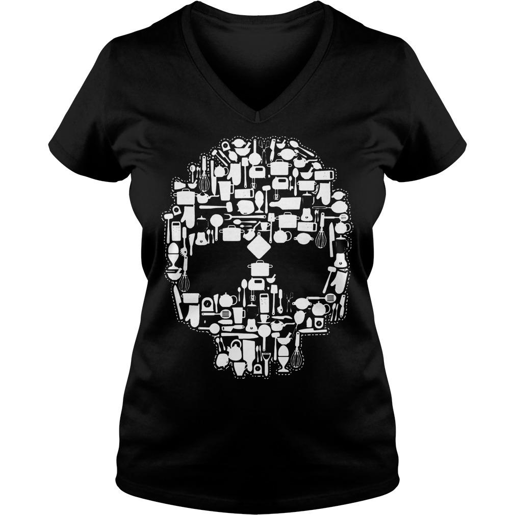 Chef Sugar Skull V neck - Chef Sugar Skull Shirt