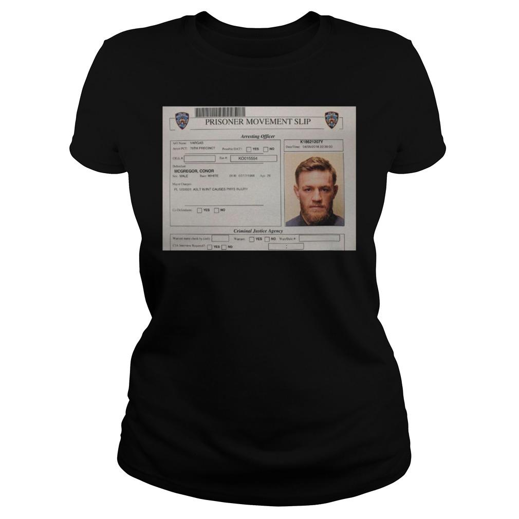 Conor Mcgregor Mugshot Ladies - Conor Mcgregor Mugshot Shirt