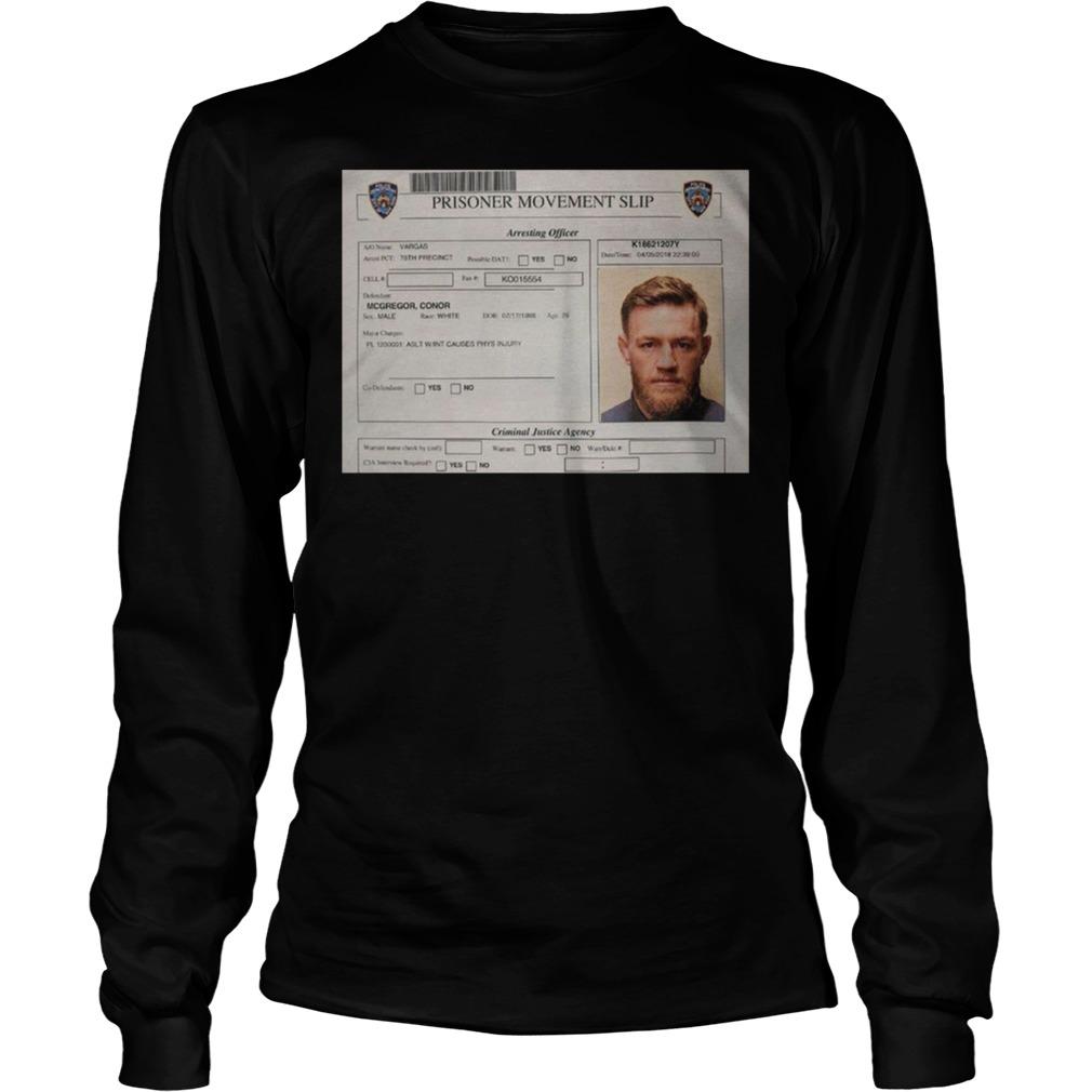 Conor Mcgregor Mugshot Longsleeve - Conor Mcgregor Mugshot Shirt