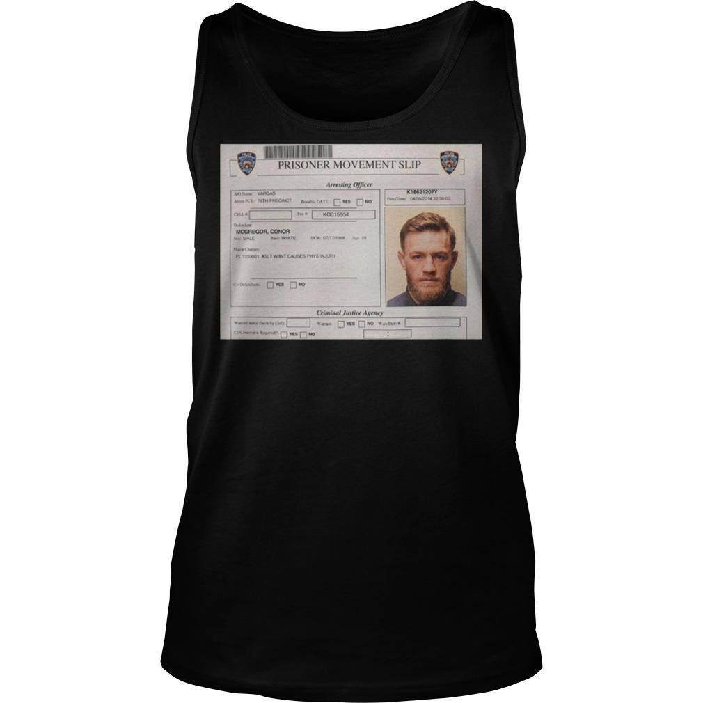 Conor Mcgregor Mugshot Tanktop - Conor Mcgregor Mugshot Shirt