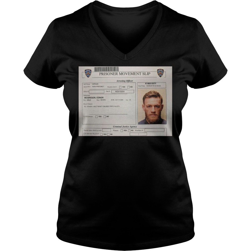 Conor Mcgregor Mugshot V neck - Conor Mcgregor Mugshot Shirt