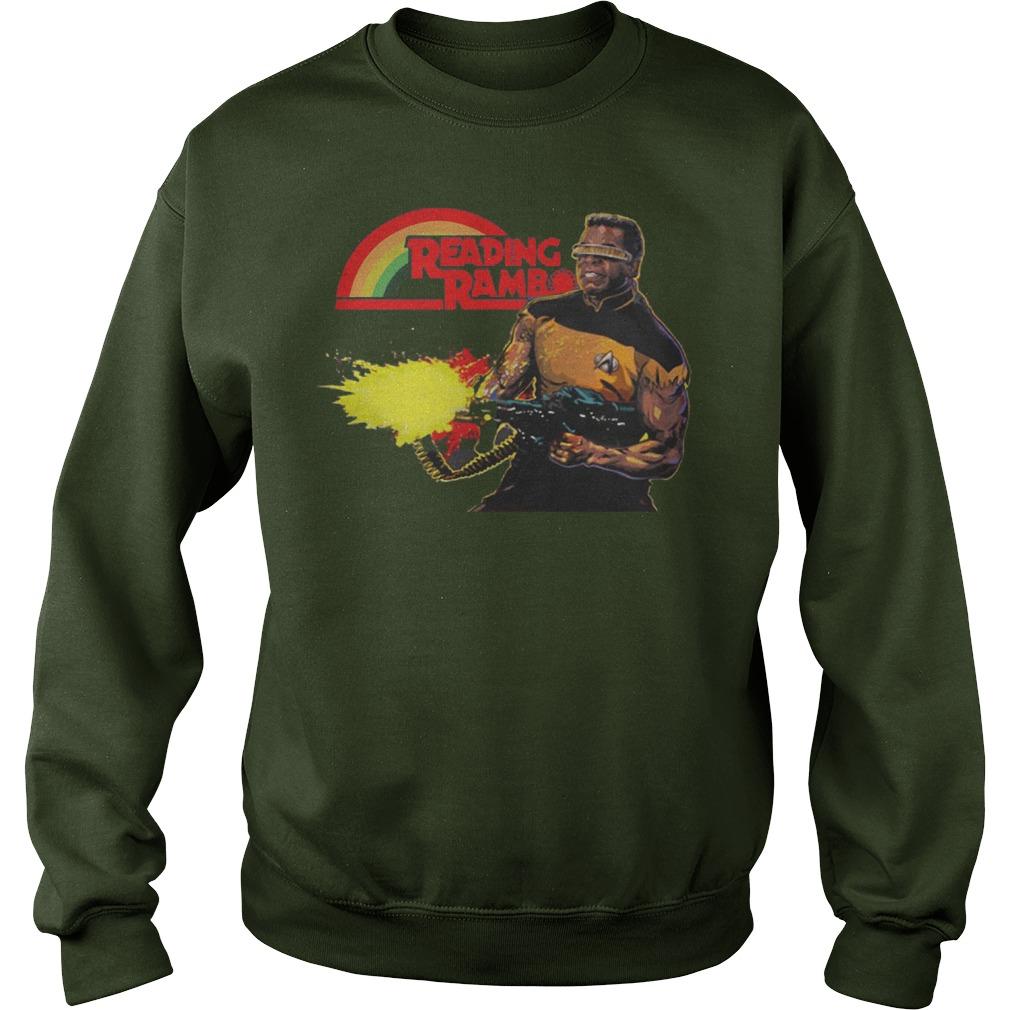 Geordi La Forge Reading Rainbow Sweater - Geordi La Forge Reading Rainbow Shirt