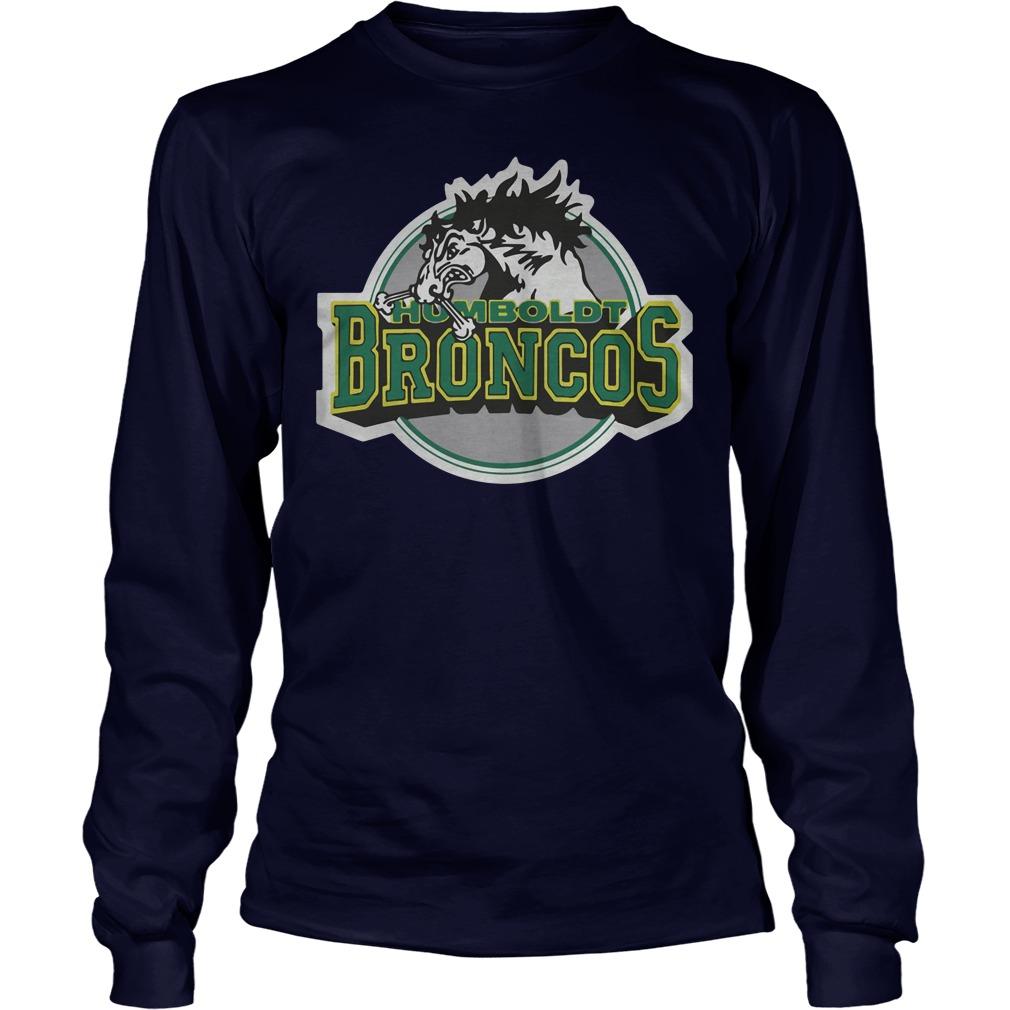Humboldt Broncos Hockey Logo Longsleeve - Humboldt Broncos Hockey Logo Shirt