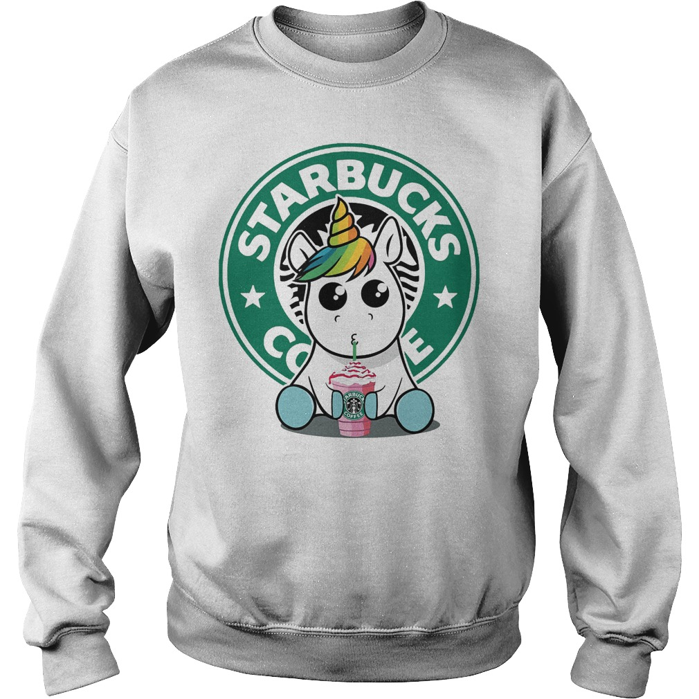 Unicorn Drink Starbucks Coffee Sweater - Unicorn Drink Starbucks Coffee Shirt