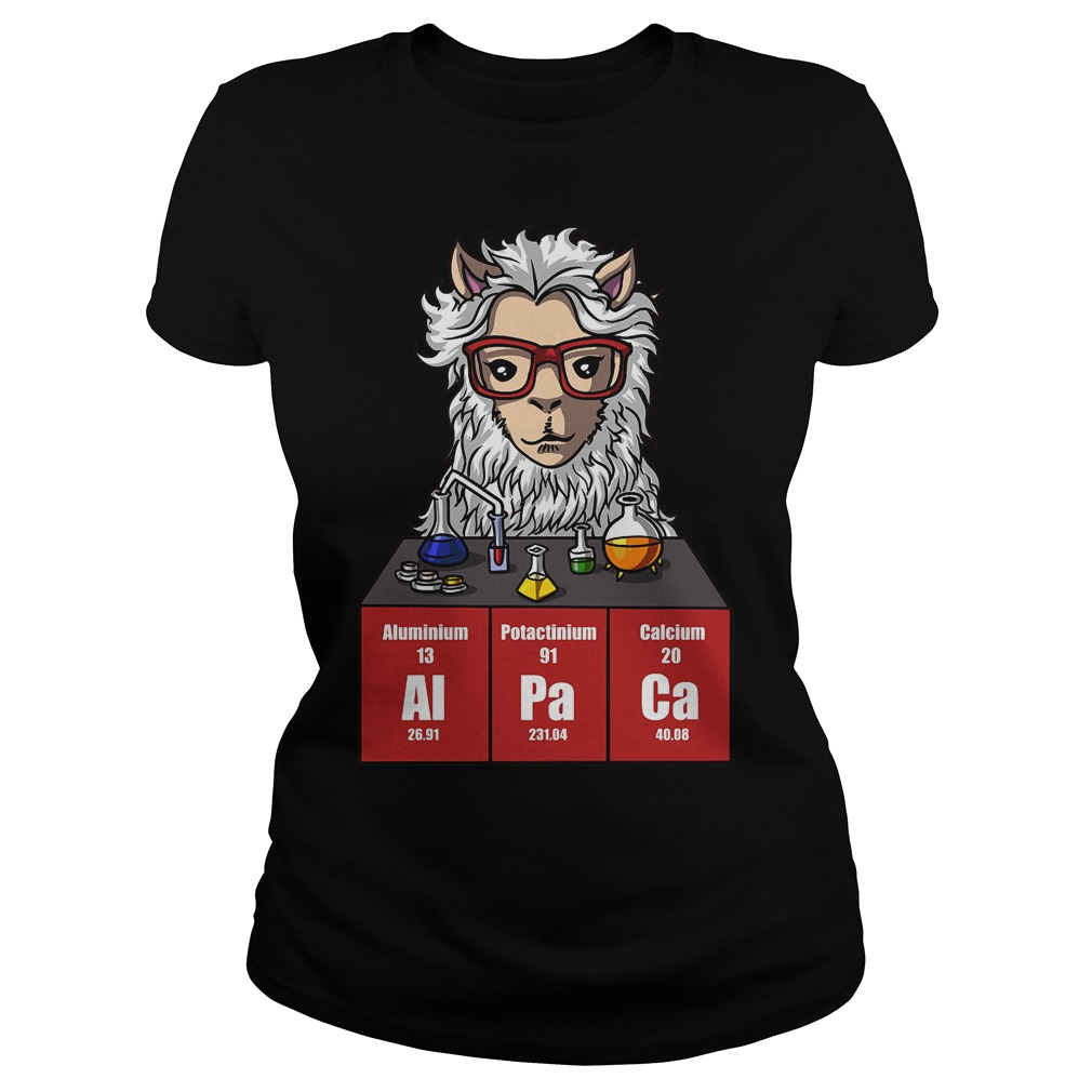 Chemistry Alpaca Cute Llama Science Teacher Ladies Tee - Chemistry Alpaca Cute Llama Science Teacher Shirt