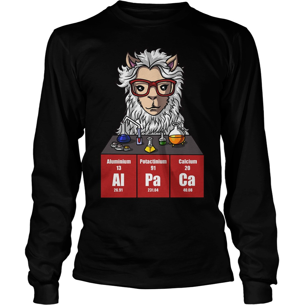 Chemistry Alpaca Cute Llama Science Teacher Longsleeve - Chemistry Alpaca Cute Llama Science Teacher Shirt