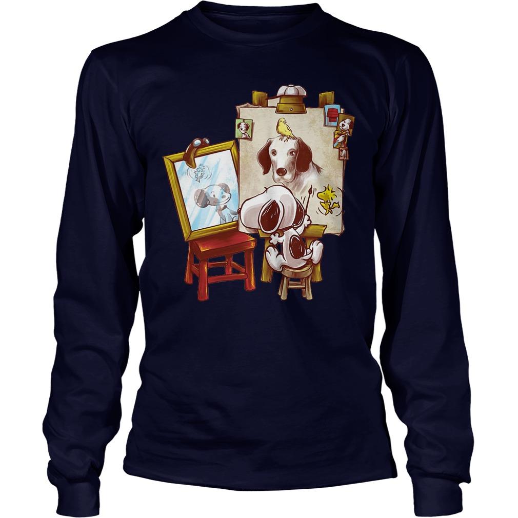 Look At Snoopy In The Mirror Longsleeve - Look At Snoopy In The Mirror Shirt