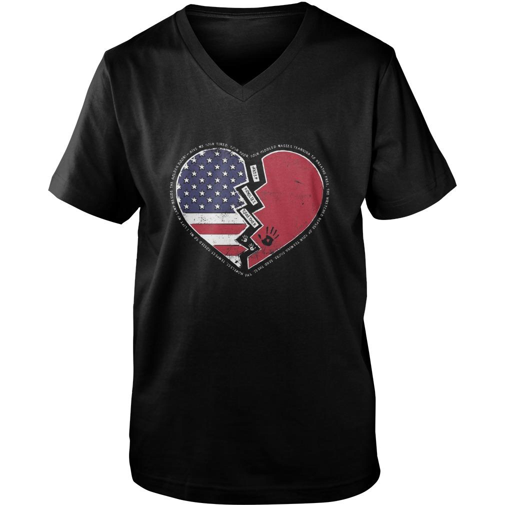 V Neck 1 - Keep Families Together-Shirt