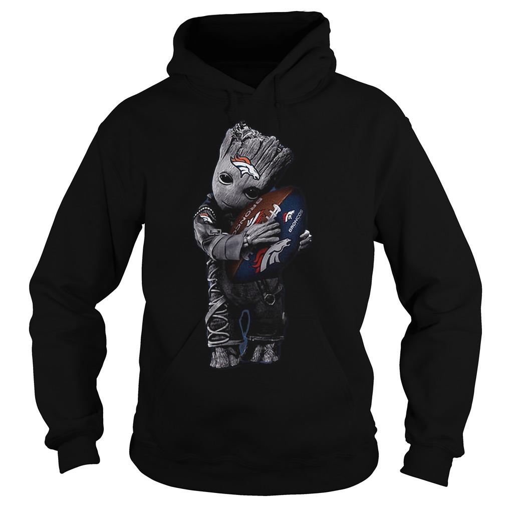 Baby Groot Hug Denver Broncos Football NFL T Shirt Hoodie - Baby Groot Hug Denver Broncos Football NFL T-Shirt