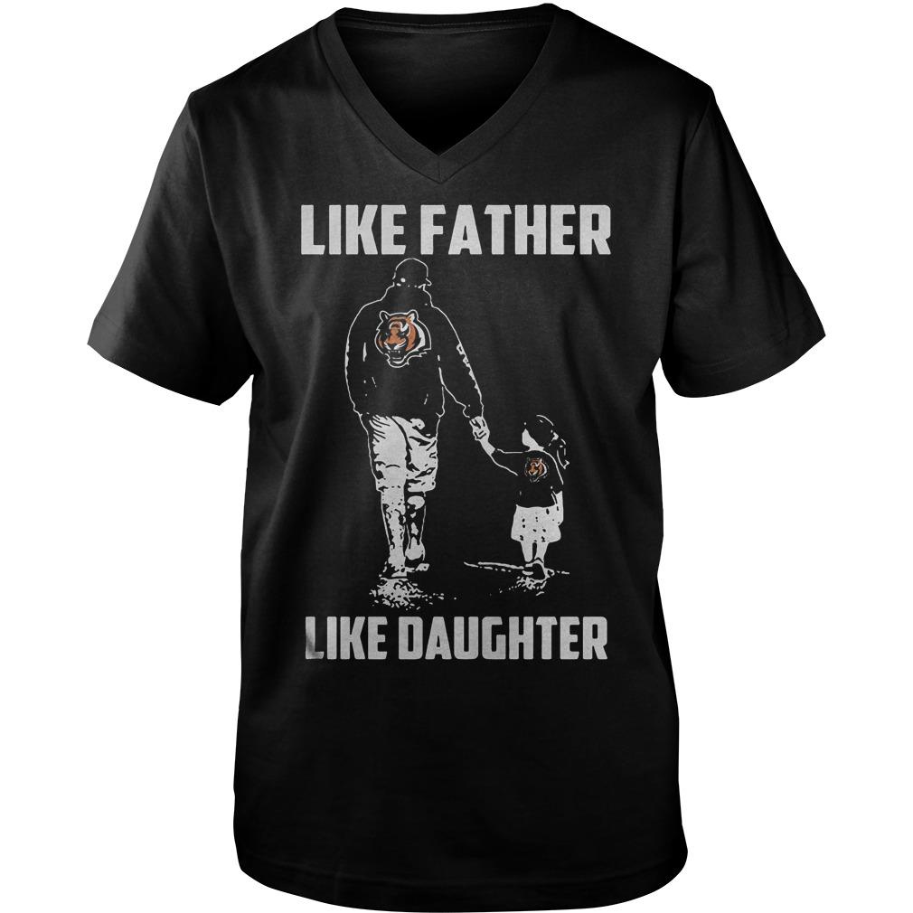 Cincinnati Bengals Like Father Like Daughter T Shirt Guys V Neck - Cincinnati Bengals – Like Father Like Daughter T-Shirt