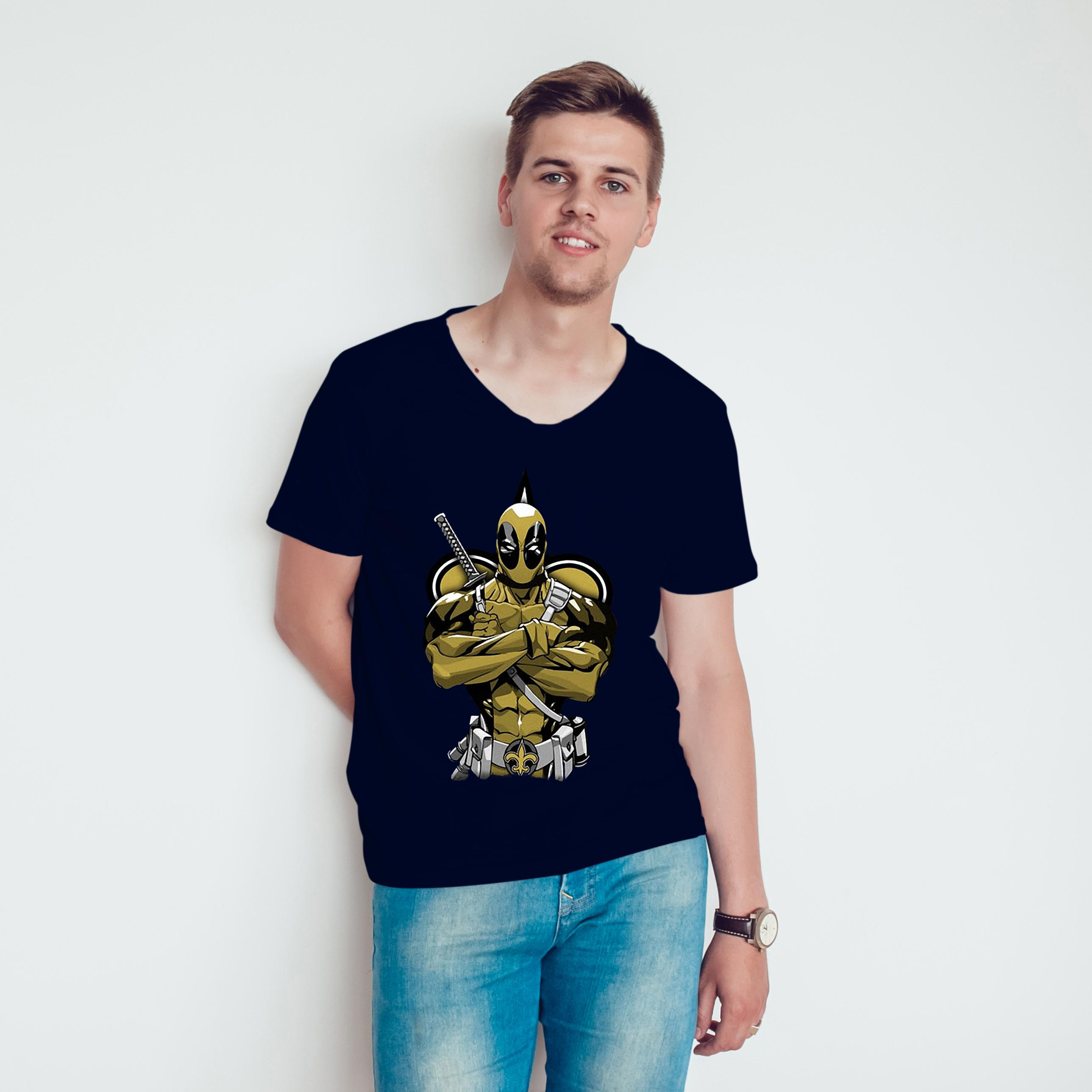 Deadpool New Orleans Saints T Shirt
